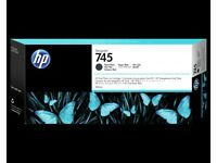 2 x Brand New HP 745 300-ml DesignJet Matte Black Ink Cartridge
