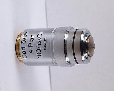 Zeiss A-plan 100x 1.25 Oil 160mm Tl Microscope Objective