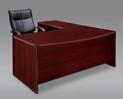 New Amber Bowfront L-shape Executive Office Desk