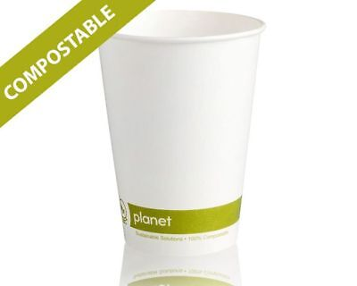 7oz Tall Compostable PLA Single Wall White Paper Cups for Hot /Cold Drinks 7 Oz Hot Cold Cup