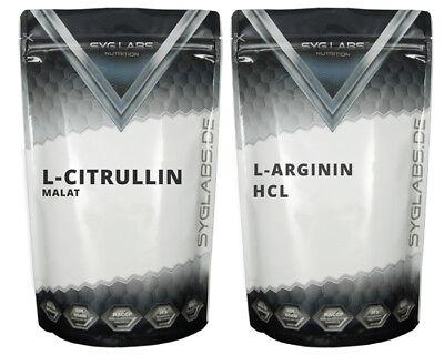 Arginin 500g + Citrullin 500g - Pulver Citrullin Malat l-citrullin l-arginin