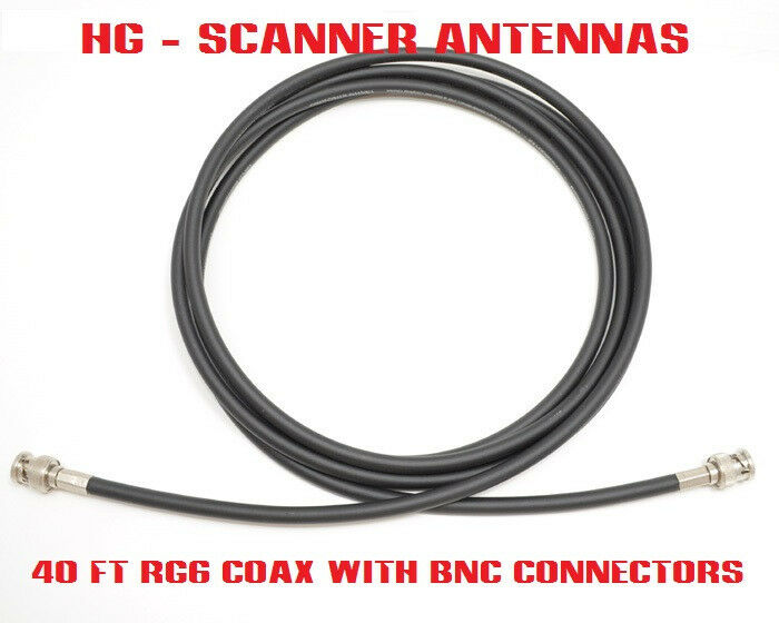 40ft RG6 Coax Cable for HG Scanner Antennas