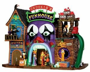 Lemax Spooky Town CHUCKLES FUNHOUSE SCARY CLOWN CARNIVAL HALLOWEEN VILLAGE