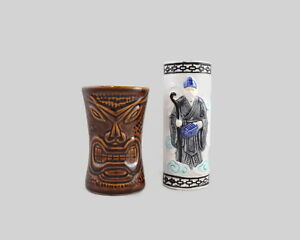 Vintage Collectible Tiki Mugs Daga Hawaii & Orchids of Hawaii