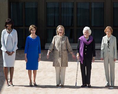 MICHELLE OBAMA, LAURA BUSH, HILLARY CLINTON, BARBARA BUSH, R. CARTER 8X10 PHOTO