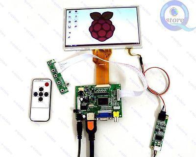 "Diy Monitor for Raspberry Pi-(HDMI+VGA+2AV)Lcd Driver+7"" AT070TN92+Touch Screen"