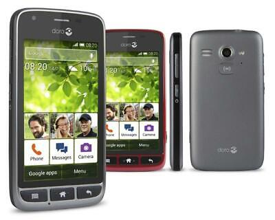 Android Phone - Doro 820 Mini Black Red White Elderly Big Button Android Mobile Phone - Warranty