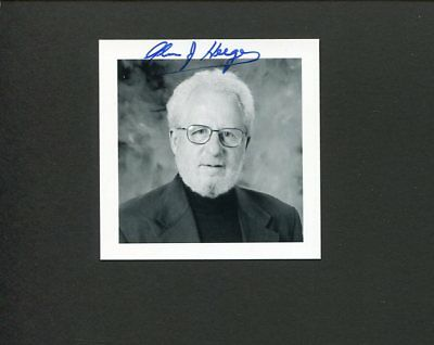 Alan Heeger 2000 Nobel Prize Chemistry Signed Autograph Photo