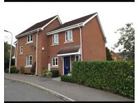 Two double bedroom house for sale with downstairs cloakroom, garden, garage, parking & still in NHBC