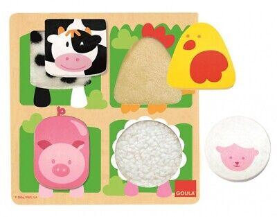 Goula Spüren Sie Puzzle Farm 4 Stück