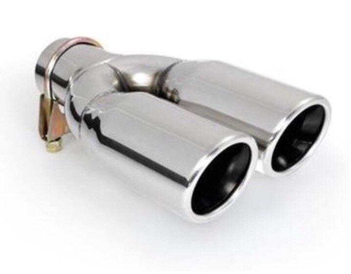 ER60020 - Stainless Steel double pipe Exhaust Trim Tailpipe Muffler for Screw