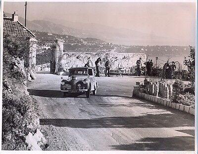 Hillman Minx LKJ1 1949 Monte Carlo Rally - original press photo