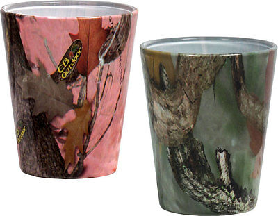 Camo Shot Glasses~set of 2, Green & Pink Combo Pack, Real Glass on Rummage