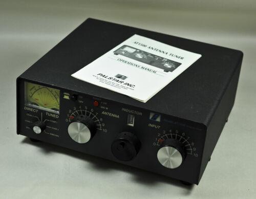 Vintage Palstar Inc. AT1500 Roller Inductor Tuner ANTENNA TUNER & manual, Works.