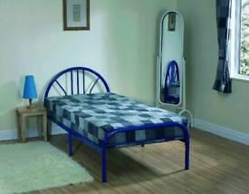 Metal Bed Navy Blue