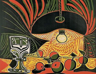 Pablo Picasso Lithograph Poster Still Life Under The Lamp 1982 for sale  Victoria