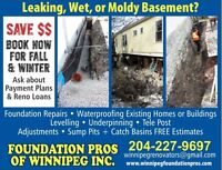 Winnipeg Foundation Pros for all foundation /house lifting needs