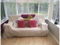 Comfortable double sofa bed with storage under bed
