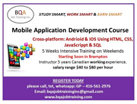 4 WEEKENDS MOBILE APPLICATION COURSE  STARTING SOON