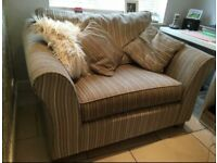 Love seat with matching foot stool