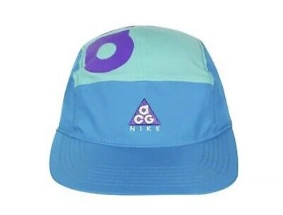 NIKE ACG DRY AW84 TURQUOISE PURPLE 5 PANEL ADJUSTABLE HAT CAP AO2104 430 fad2b0852116