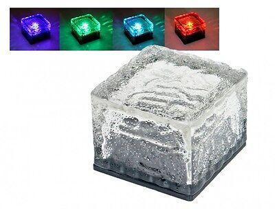 UBE Gartenleuchte Gartenlampe Solarleuchte Solar Außenlampe (Ice Cube Beleuchtung)