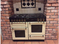 LEISURE RANGEMASTER 110 ELECTRIC COOKER 2 OVENS CREAM HOB GRILL GRIDDLE 110CM
