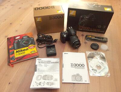 Nikon D D3000 10.2 MP SLR-Digitalkamera - Schwarz (Kit m/ AF-S DX 18-55mm... Nikon D 3000 Kit