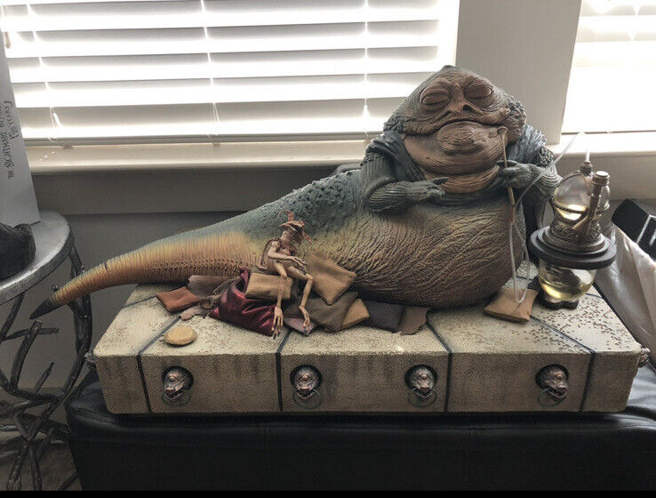 Sideshow Star Wars JABBA the HUTT Deluxe 1/6 Scale **WITH SLAVE LEIA COSTUME***
