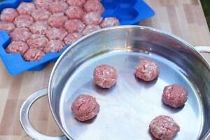 Meatball Kebab makes 32 even-sized meat balls
