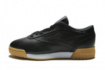 3132c7db80f REEBOK EXOFIT LO Thoroughly GARMENT LEATHER WOMENS TRAINERS UK SIZE 6 BNIB  BLACK GUM