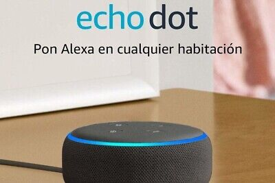✅Altavoz inteligente Alexa, tela de color antracita Echo Dot (3.ª generación)