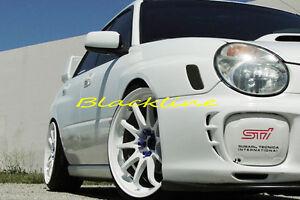 02~03 Subaru Impreza WRX STi Bumper Side Marker Carbon Fiber Decal Overlay Cover