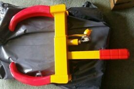New and unused heavy duty claw wheel clamp