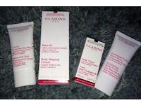 Clarins Paris Treatments, Hand & Nail, Body Scrub, Tonic, Shaping Cream. Brand New