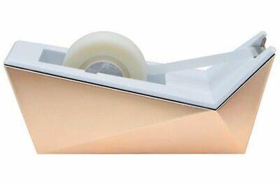 Scotch Desktop Tape Dispenser Goldwhite Sleek Design Weighted Easy To Refill