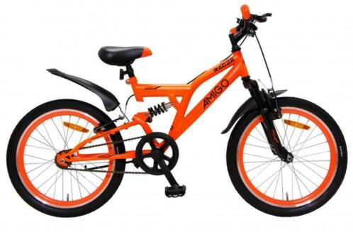 AMIGO Full Suspension Mountainbike 20 Inch Oranje