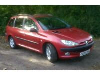 PEUGEOT 206 SW 1.4 Diesel Estate. Cam Belt Done + New Gearbox LEATHER £30 Tax
