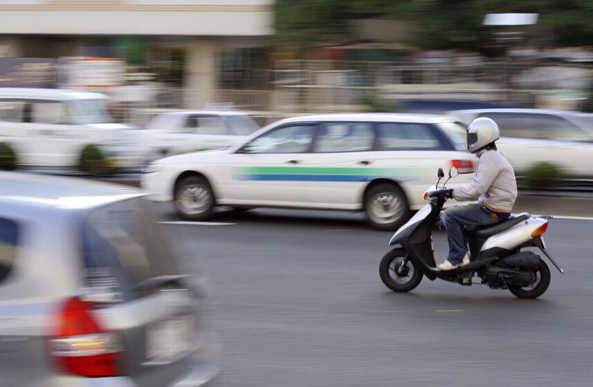 Praktisch im Stadtverkehr: der Motorroller Honda Bali