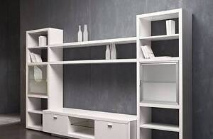 """Factory Second """"Serene"""" White TV Wall Unit Epping Whittlesea Area Preview"""