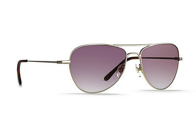 Raen Optics Roye Aviator Sunglasses Gold Manzanita Frame Rose Gradient Lens
