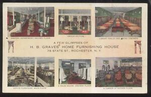 Postcard ROCHESTER New York NY H B Graves Furniture Store
