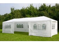 THREE NEW 3m x 9m Garden Gazebos Party Tents Marquees Canopy