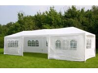 THREE NEW 3m x 9m Garden Gazebos Party Tents Marquees Canopy (can be sold separately)