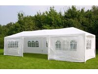 TWO NEW 3m x 9m Garden Gazebos Party Tents Marquees Canopy (can be sold separately)