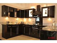 Black Gloss Kitchen for sale