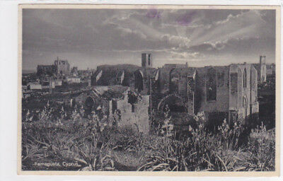 CYPRUS POSTCARD FAMAGUSTA PANORAMA OF OLD CITY GLASZNER NO 97