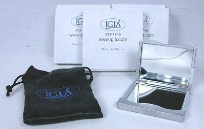 Wholesale Lot 6 Igia Compact Magnifying Mirror Makeup Travel Purse A-8