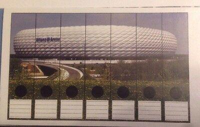 Selbstklebende Ordnerrücken Ordner Schilder Allianz Arena