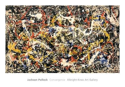 ABSTRACT ART PRINT - Convergence by Jackson Pollock 28x40 Poster